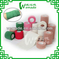 /ce aprobado por la fda 10cm*4.5m hospital/militar/uso en el hogar elástico cohesivo vendaje de algodón