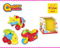 NINIYA Q-CITY Assembly toys car, plane,motor car