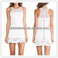 Hot vente 2014 femmes. été, pure couleur blanche robe( ydq03191)