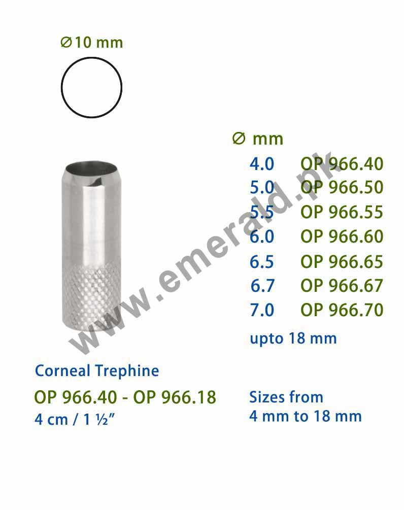 Ophthalmic Trephine Corneal Trephine