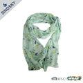 100% printemps polyester imprimé foulard