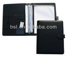 File folder a4 fashion portfolio case 4 rings briefcase organizer CR-P5163