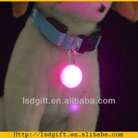 2014 pet products dog collar round pendant