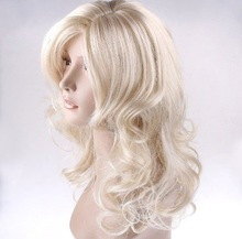 best quality wholesale romantic curl synthetic wig with baby hair