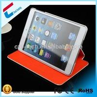 New product book style case for ipad mini pu leather hard back holder case for ipad mini