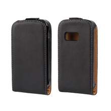 Black Flip Leather Case for Samsung Galaxy Mini 2 S6500 Case