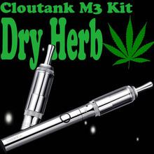 Mini vapor de ozonio dry herb atomizer Cloupor cloutank M3 kit with most perfectly 650mah Cloutank F1 battery