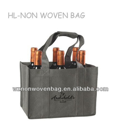 2014 hot sell new 80gsm promotional carry wine bottle non woven bag