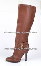 woman thigh high winter leather boot
