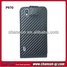 New arrival flip leather case for lg optimus black p970