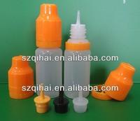 childproof PE Plastic dropper bottle& thin insert for e-liquid e-cigarette (ISO9001)