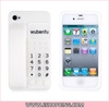 Silicone 3D Telephone Design Protective Case for iphone 4 & 4S White