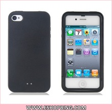TPU Case with Screen Protector Cover for iphone 4 4S Black