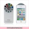 Protective Plastic Case with Special Lens & Filter Turret for iphone 4S Silver