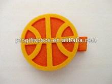 2014 hot sell handmade felt Basketball Hair Clip made in China