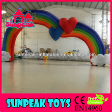 Advertisement Rainbow Inflatable Arch