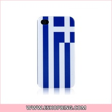 KN137 Greek Flag Back Hard Case Cover for Apple for iphone 4G