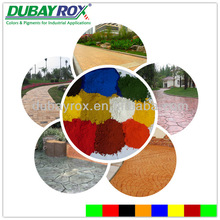 Iron oxide pigments in decorative architectural concrete