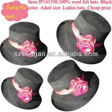 Customized /wholesale boater felt cowgirl hats woman Popular wool casual cap100%wool felt wears headwear/beach cap/helmet/casque