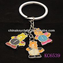 Promotional Metal Bear Clock Keychain