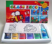 Non-toxic hot item 6-color Glass Deco paint 22ml