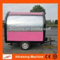 Kiosko de comida móvil / Kiosko móvil eléctrico de ruedas grandes de acero inoxidable para venta de comida
