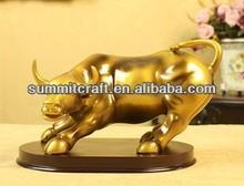 20140Custom hand painted polyresin buffalo figurine for sale