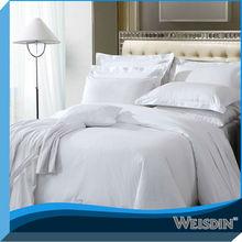 guangzhou hotsale stripe100% cotton hotel hand stitch bed sheet