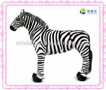 Emulational zebra stuffed forest animals toy