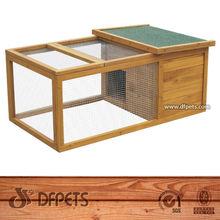 2014 E-co Friendly Large Run Wooden Rabbit House Designs DFR015