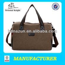 2014 custom canvas leather duffle bag wholesale factory