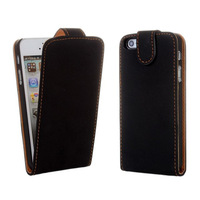 promotional for iphone 5s leather case waterproof two side flip (OEM/ODM)