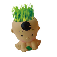 childish Mini Novel Bonsai ceramic Grass Doll