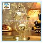 30 Min Large Brass Antique Retro Flip Down Hourglass Sand Timer Clock