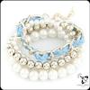 New fashion jewelry hot sale popular white pearl bead bracelet JB1201