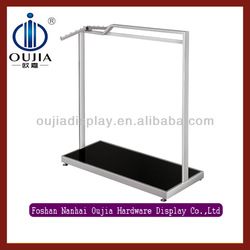 stainless steel clothes shop display equipment/cloth shop furniture design