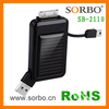 High quality powerful solar charger for i-phone blackberry smartphone