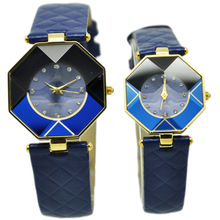 2014cheap lover watch , Hot factory wholesales sports blove ladies leather watches,best girt couple watch