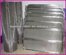 Stainless steel sintered mesh filter leaves