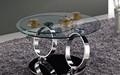 moderno de mármol redondo de acero inoxidable de café de mesa