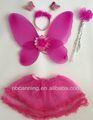 Asas de fada& varinha conjunto/asas de fada fantasia traje favor/asas de fada menina asas ângulo