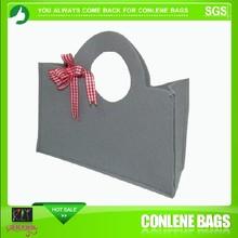 Makeup pouch bag | Grey Wool Felt Bag