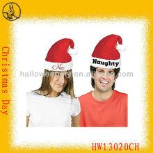 Most Popular Plush Christmas Decoration Embroidery Santa Hats