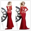 ED-0931 Tarik ediz evening dress red evening dress long sleeves designer evening dress patterns 2014