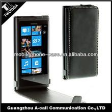 Wholesale PU leather material cover for nokia lumia 800 flip case