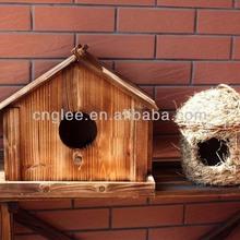 Handmade Wood Bird Nest Wooden Bird Cage Wood Bird House