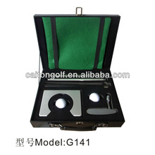 Golf gift delicate golf aluminum alloyputter set with lether box G141 Manufacture& Export