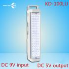 6V 4.5AH multifunction 100 led emergency light dc 9v input & dc 5v output