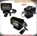 50w cree led sans fil de contrôle à distance la lumière de recherche led hors route atv trailer jeep. clair pour les voitures