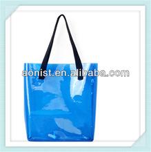 PVC fashion beach bag for ladies